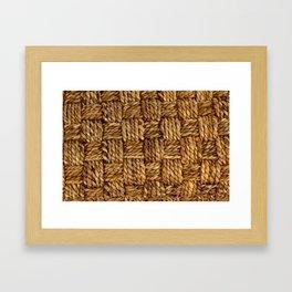 HEMP PATTERN Framed Art Print