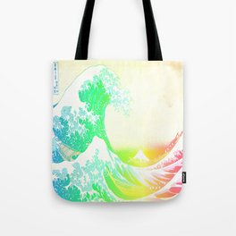 The Great Wave Rainbow Tote Bag