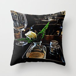 The Leaning Flower of Pisa Throw Pillow