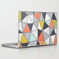 triangles Laptop & iPad Skins featuring Triangles by Patterns and Textures