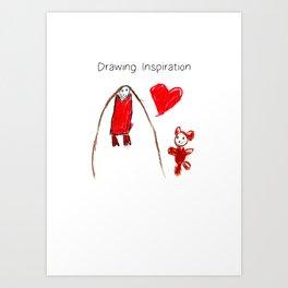 Drawing Inspiration6 Art Print