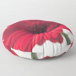 Red Gerbera I [Untextured] Floor Pillow