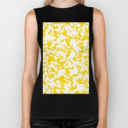 Spots - White and Gold Yellow Biker Tank