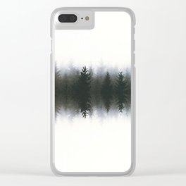 Sound waves -woods Clear iPhone Case