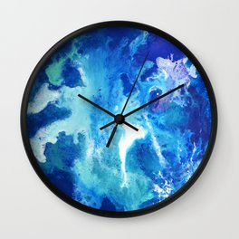 Nihal - Abstract Costellation Painting Wall Clock