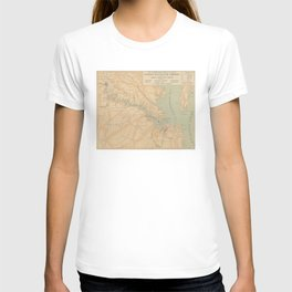 Vintage Map of The James River (1899) T-shirt
