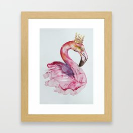 Flamingo crone Framed Art Print