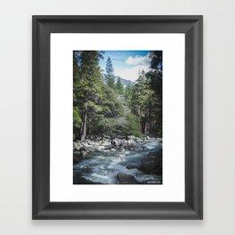Waterfall @ Yosemite National Park, CA Framed Art Print
