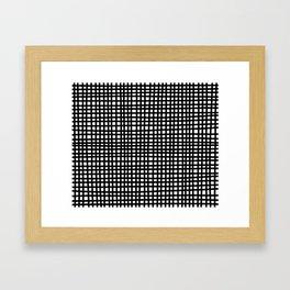 Black and White Gingham Framed Art Print