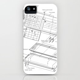 Korg MS-10 - exploded diagram iPhone Case
