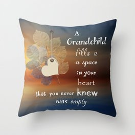A Grandchild Throw Pillow