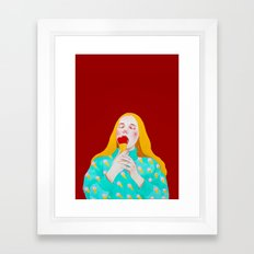 eat your heart Framed Art Print