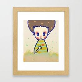 the little star in my heart Framed Art Print