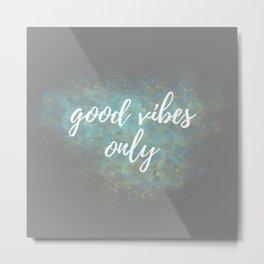 Good Vibes - Blue Yellow Metal Print