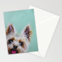 Peek-A-Boo Yorkie Stationery Cards