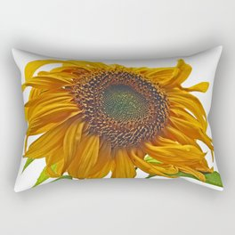 sunflower bad hair day Rectangular Pillow