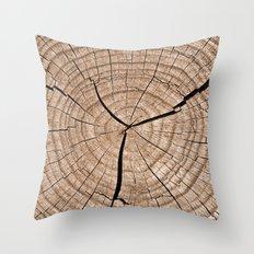 Tree Trunk Throw Pillow