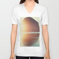 kurt cobain V-neck T-shirts featuring This is where I want to be... by Kurt Rahn