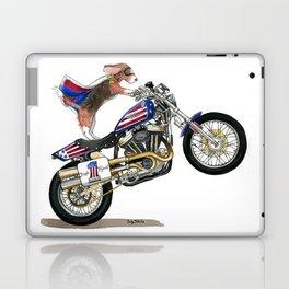 Beagle on Motorcycle Laptop & iPad Skin