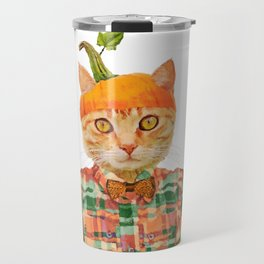 Orange Pumpkin Cat // Fall Decor Travel Mug