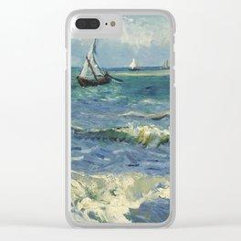 The Sea at Les Saintes-Maries-de-la-Mer by Vincent van Gogh Clear iPhone Case