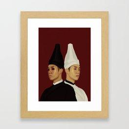 黑白无常 | Hei Bai Wu Chang | Black and White Impermanence Framed Art Print