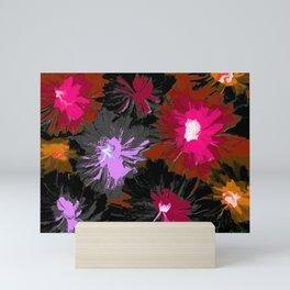 Floral Depth 2 Dark Mini Art Print