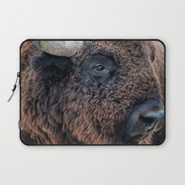 In The Presence Of Bison Laptop Sleeve