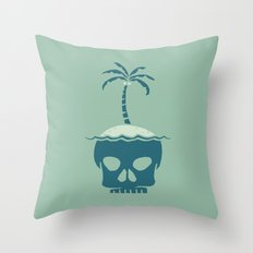 Skull Island – Green Throw Pillow