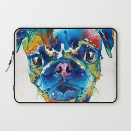 Colorful Pug Art - Smug Pug - By Sharon Cummings Laptop Sleeve