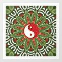 Red Yin Yang Sun Festive Mandala by webgrrl