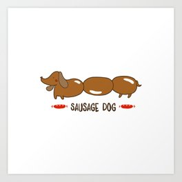 Sausage Pup Art Print