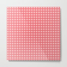 Cute polka dots and heart pattern Metal Print