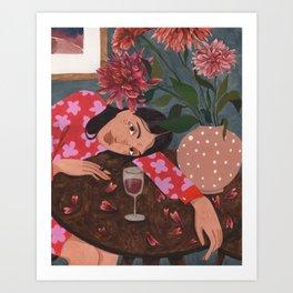 Dahlias Art Print