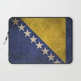 Old and Worn Distressed Vintage Flag of Bosnia - Herzegovina Laptop Sleeve