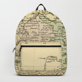 Vintage Map of The North Of China Backpack