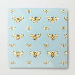 Bumblebee on Mint Metal Print