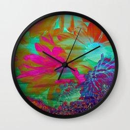 Floral Fantasy 2 Wall Clock