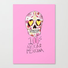 100% azucar mexicana Canvas Print