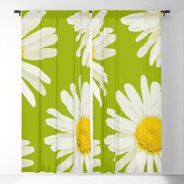 Daisies on a vivid green background - #Society6 #buyart Blackout Curtain