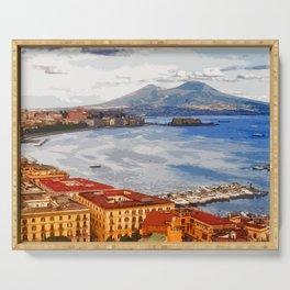 Italy. The Bay of Napoli Serving Tray