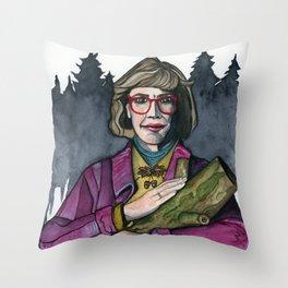 Twin Peaks Log Lady Throw Pillow
