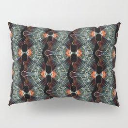 Glass and Lights Kaleidoscope Scanography Pillow Sham