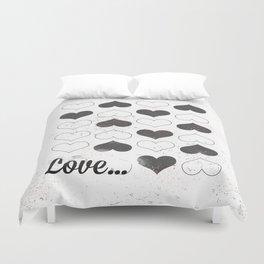 love hearts Duvet Cover