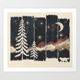 A Starry Night in the Mountains... Art Print