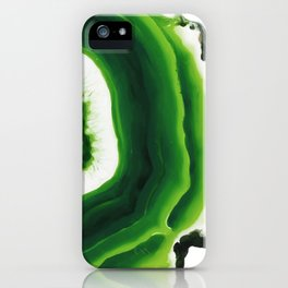 Green Agate Geode slice iPhone Case