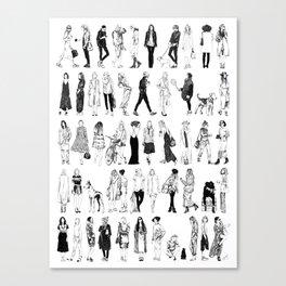 50 Shades of Fashion Canvas Print