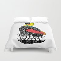 fat Duvet Covers featuring Fat Woman by R. Gorkem Gul