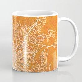Brighton, England, Gold, Blue, City, Map Coffee Mug