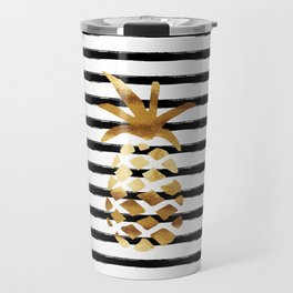Pineapple & Stripes Travel Mug